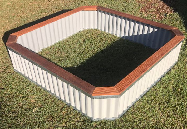 Sandpit with Timber Top